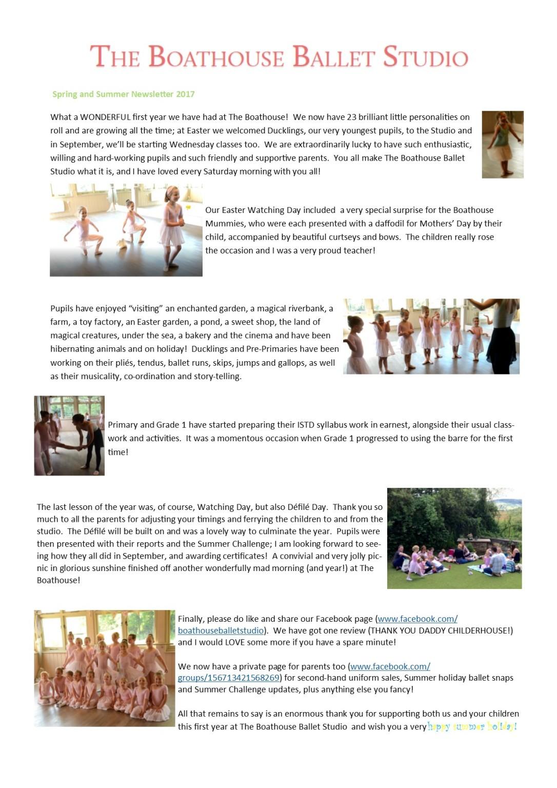 Newsletter Summer 2017 as image